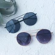 ラウンド細フレームサングラス 眼鏡 メガネ UVカット 丸サングラス UVカット リゾート 海