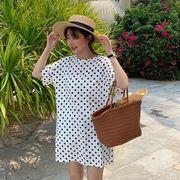 春夏新商品730657 大きいサイズ ドレス 婦人服 日韓風 ワンピース3L 4L 5L