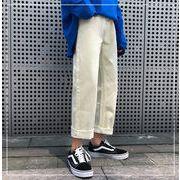 2019新品発売/韓国ファッション/CHIC気質/大人気/トレンド/ジーンズ/ワイドレッグパンツ/ロングパンツ