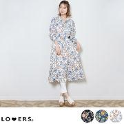花柄オープンカラーワンピース ma 【即納】アパレル ワンピ ワンピース 花柄