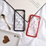 ハート・マグネットバンパー・ガラス・Phone7・Phone8・Plus・iPhoneX・XS[スマホケース/iPhoneケース]