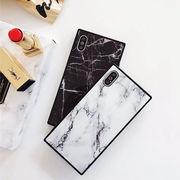 大理石・マーブル・スクエア・Phone8・Plus・iPhoneX・iPhoneXS[スマホケース/iPhoneケース]