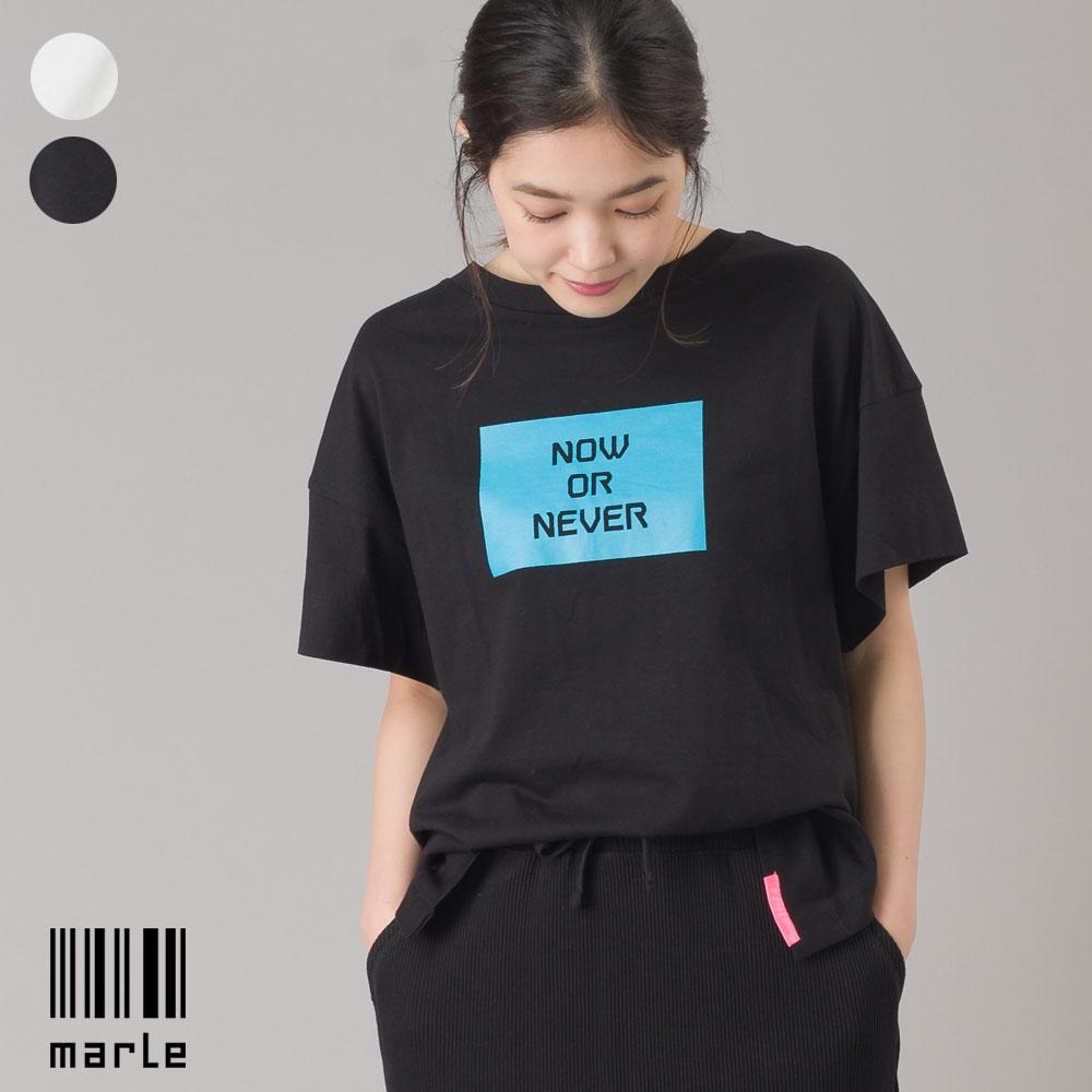 スリット入 ロゴ半袖Tシャツ N.O.N