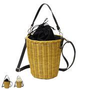 バケツ巾着カゴバッグ 鞄 ハンドバッグ ショルダーバッグ BAG バケツ型 バスケット トレンド