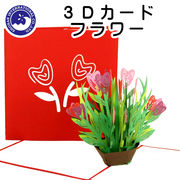 ■湘南インターナショナル■■2019SS 新作■■母の日特集■ 【3Dカード】 フラワー