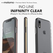 iPhone X/Xs iPhone XR iPhone Xs Max INFINITY Clear case スマホケース ストラップホール