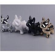 フレンチブルドッグ かわいい セラミック プレゼント 装飾用 動物モデル 貯金箱