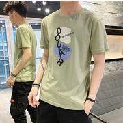 クルーネック メンズ半袖tシャツ 100%コットン 夏人気カットソー