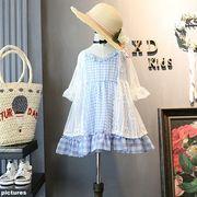 韓国風 キッズ洋服 夏服 新しい 女子供服 王女 風 児童 赤ちゃん ソフト レース ス