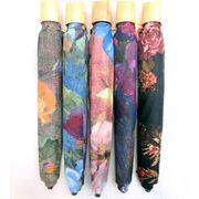 【折りたたみ傘】【日本製】極薄生地使用軽量コンパクト手描き風プリント折り畳み雨傘