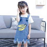 【韓国ファッション】 デニムバックドレス 子供服 キッズ 児童 夏 韓国 ファッション
