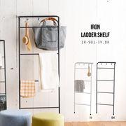シンプルなデザインの壁掛け式収納【アイアン・ラダー・シェルフ】