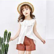【韓国ファッション】ノースリーブ子供服 Tシャツ 子供服 キッズ 児童 夏 韓国 ファッション