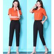 【大きいサイズS-4XL】ファッションパンツ♪ブラック/ライトグリーン2色展開◆