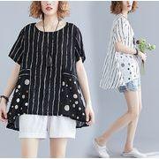 【春夏新作】ファッショントップス♪ホワイト/ブラック/イエロー3色展開◆
