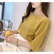 【大きいサイズM-4XL】ファッション/人気Tシャツ♪イエロー/ホワイト/ブルー3色展開◆