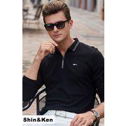 メンズ ポロシャツ 長袖 メンズ ポロ ゴルフ スポーツ ゴルフウェア カジュアル シャツ トップス bons913