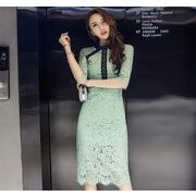クーポン使えます♪韓国ファッション  CHIC気質 レディース スリム バッグヒップスカート 半袖  ドレス