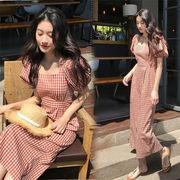 春まで着れる トレンドデザイン 韓国ファッション 春物新作  ドレス ミドル丈  ワンピ レディース