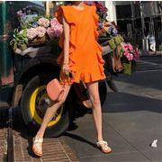 短いスタイル INSスタイル ノースリーブ ファッション スッキリ カレッジ風 エレガント ミニスカート