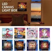【ベティちゃん ウォールアート】Betty Boop LED Canvas Light