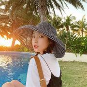 個性的なデザイン 韓国ファッション リボン 日除け 日焼け止め 通気 網 ビーチ 休暇 日韓