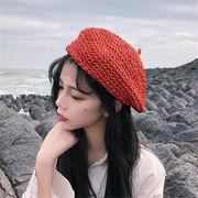 限定SALE!!19年新作登場 レディース 帽子 日除け 日焼け止め ベレー帽 カラフル 6色