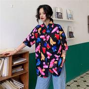 春夏新商730784  大きいサイズ 韓国 レディース ファッション ポロシャツ ワンピース  LL-4L