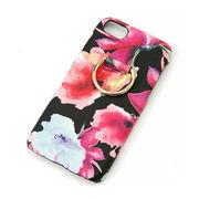 【新商品】iPhoneケース (ブルーム)【iPhone ケース 花柄 花 リング 背面 6 7 8】
