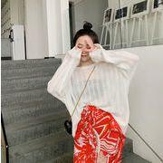 シースルーストライプシャツ レディース 韓国 オルチャン かわいい おしゃれ 透け感 セクシー