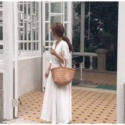 2019春更新.高品質 韓国ファッション 韓国  Vネック ファッション 簡約 ロングスカート