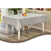 ローズ柄防水防油加工テーブルクロスアイボリー 137×182cm