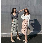めっちゃかわいい シック 新 本物 スプリット スカート 女性 小さい新鮮な ロングスカート