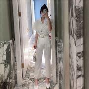 独特の存在感 ファッション 香港風 レジャー ツーピース  スリムフィット エレガント トップス