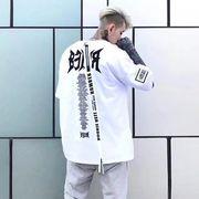 【即納】★ポリジャージ テープ付きTシャツ★2色  大きいサイズ ストリート