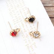 ピアスDIY用 キラキラダイヤ針付きパーツ - 手芸 クラフト 生地 材料   全3色