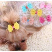 20個から販売★ワンちゃんヘアピン   ペット用髪飾り 犬 猫 ペット用品 ★ワンちゃんアクセサリー