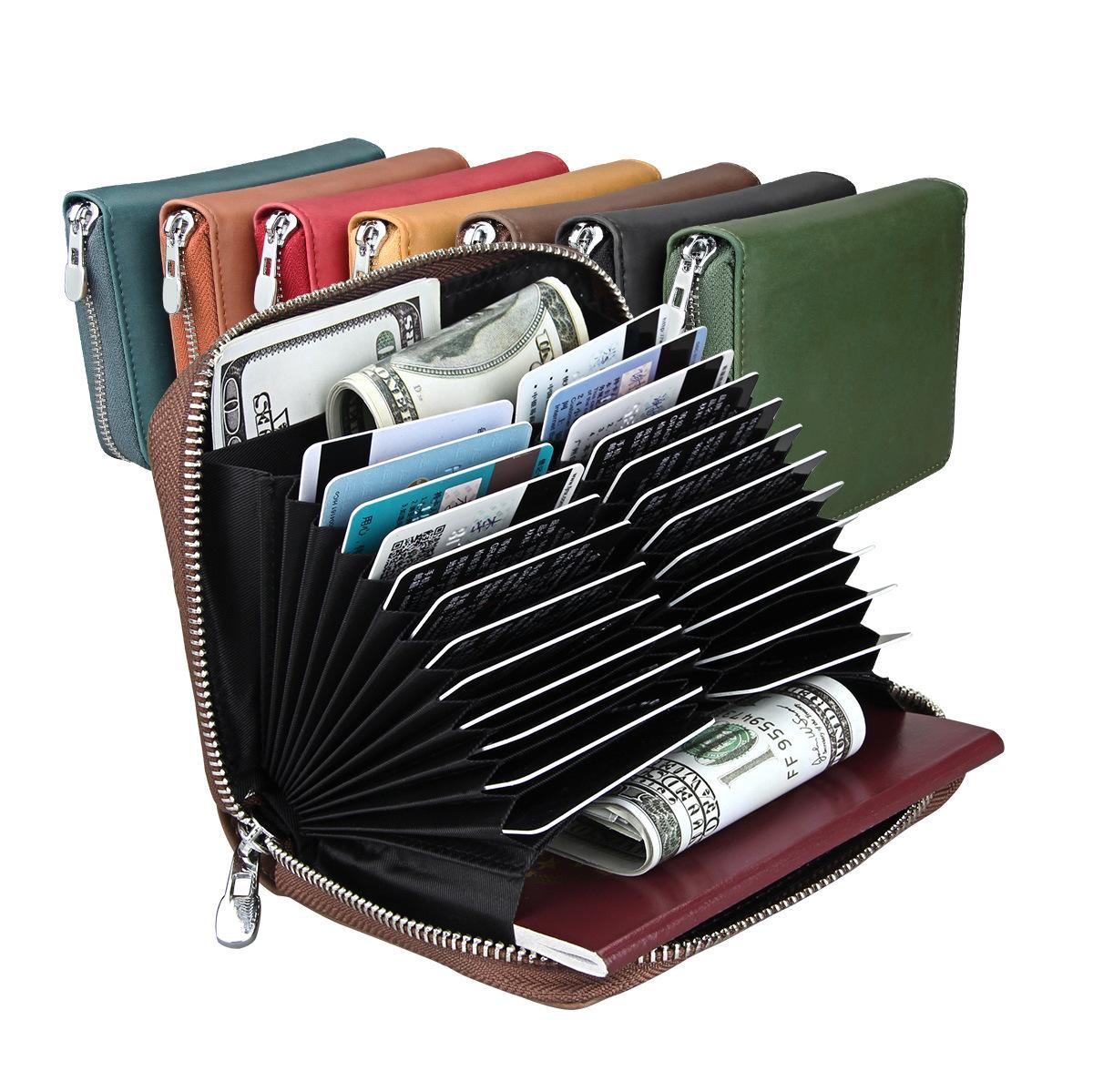パスケース レザー 名刺入れ カードが見れる・取り出せる大容量カードケース