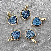 ドゥルージー GLハートチャーム(ブルー) 1.0cm×1.0cm  品番: 5749