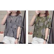 【大きいサイズL-4XL】ファッション/人気Tシャツ♪ダークグリーン/ダークグレー2色展開◆