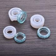 3サイズ1セット シリコンモールド 指輪 猫耳 3タイプ 封入 鏡面 ゴム型 UVレジンクラフト デコパーツ 手芸