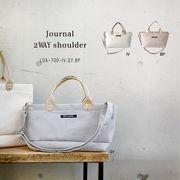淡いカラーの織りネームバッグ【ジャーナル・2WAYショルダー】