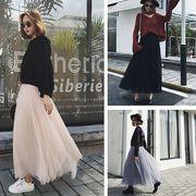 ★最強の新作★韓国ファッション ★韓版 可愛い ロングスカート