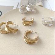 ピアス C形 不規則 欧米ファッション chic風 925銀 デザイン 気質 韓国 イアリング