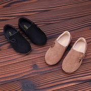 秋 シングル 女児 靴 児童 プリンセスの靴 ミルク ピーズ靴 韓国風 子供 女性 革靴