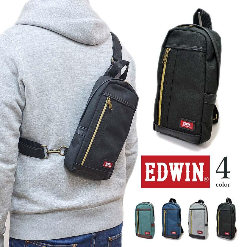 【全4色】 EDWIN エドウイン ボディバッグ ワンショルダーバッグ エドウィン