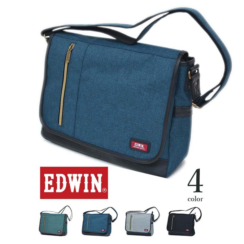 【全4色】 EDWIN エドウイン ショルダーバッグ メッセンジャーバッグ カバン エドウィン