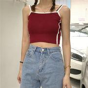 夏 新しいデザイン 韓国風 着やせ 着やせ インナー 短いスタイル トップス 学生 何で
