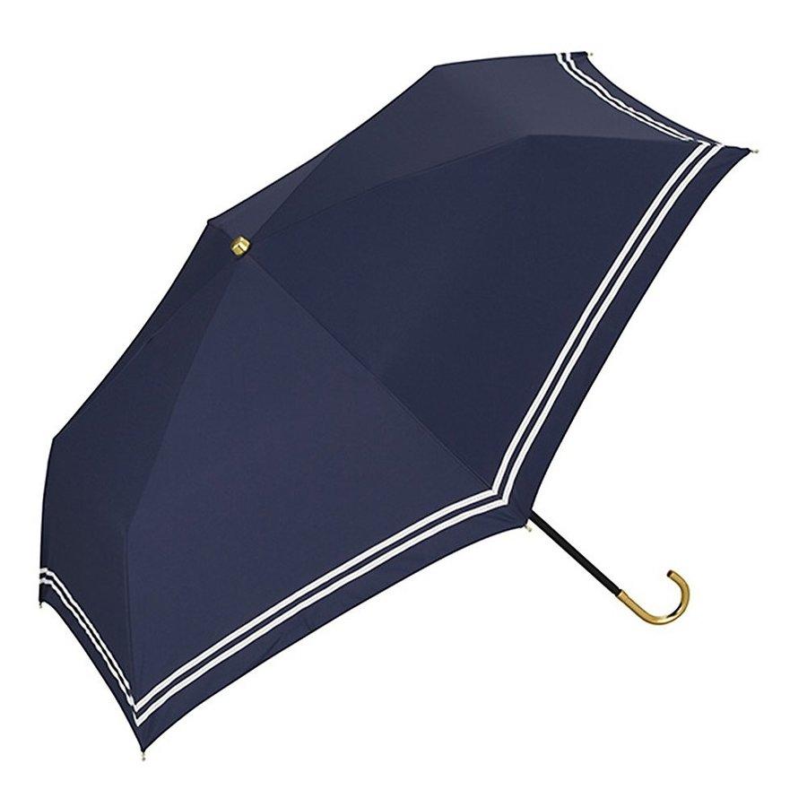 ワールドパーティー日傘 折畳傘 ネイビー 50cm傘袋付き 遮光セーラー ミニ