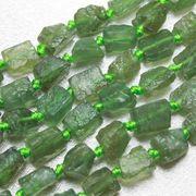 連  変形 原石 ナチュラル グリーンアパタイト ラフ 不定形 約7から9mm 素材 ハンドメイド
